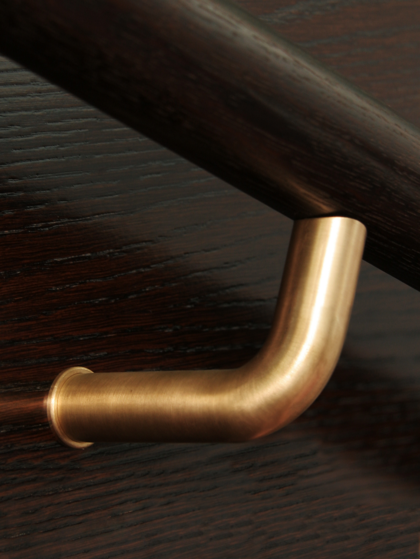 HB590 Plain Solid Bronze Stair Rail Bracket